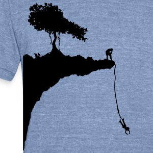 cliff jumping bungee T-Shirts - Unisex Tri-Blend T-Shirt by American Apparel
