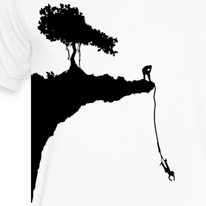 cliff jumping bungee T-Shirts - Men's V-Neck T-Shirt by Canvas