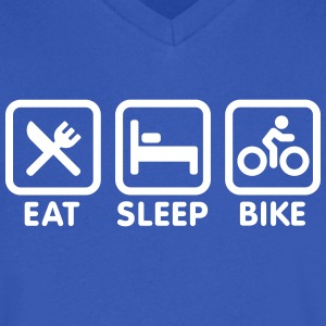 Eat sleep bike T-Shirts - Men's V-Neck T-Shirt by Canvas