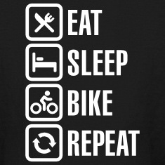 Eat sleep bike repeat  Kids' Shirts