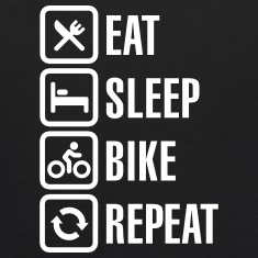 Eat sleep bike repeat  Sweatshirts
