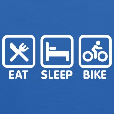 Eat sleep bike Sweatshirts
