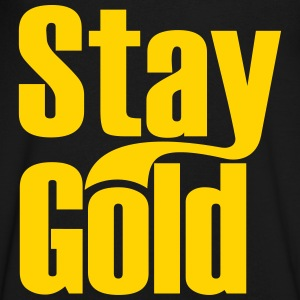 Stay Gold T-Shirts - Men's V-Neck T-Shirt by Canvas