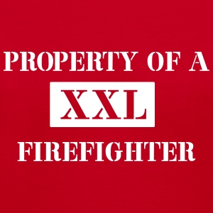 Property of a Firefighter Women's T-Shirts - Women's V-Neck T-Shirt