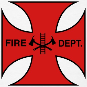 Maltese Cross Fire Department T-Shirts - Men's T-Shirt
