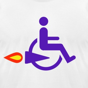 Rocket Wheelchair - Men's T-Shirt by American Apparel