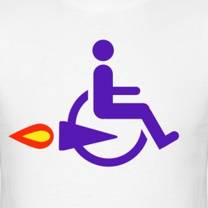 Rocket Wheelchair - Men's T-Shirt