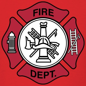 Fire Department Symbol T-Shirts - Men's T-Shirt