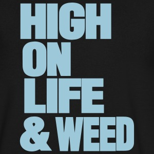 HIGH ON LIFE & WEED T-Shirts - Men's V-Neck T-Shirt by Canvas