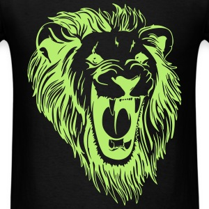 Lion - male face roaring T-Shirts - Men's T-Shirt