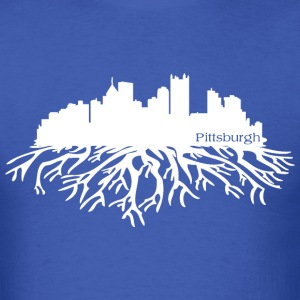 Pittsburgh Skyline Roots T-Shirts - Men's T-Shirt