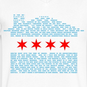 Jack's Chicago House Flag T-Shirts - Men's V-Neck T-Shirt by Canvas