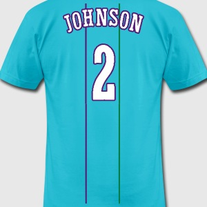 JOHNSON #2 THROWBACK T-Shirts - Men's T-Shirt by American Apparel