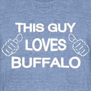 This Guy Loves Buffalo New York T-Shirts - Unisex Tri-Blend T-Shirt by American Apparel