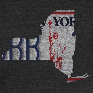 New York State License Plate T-Shirts - Unisex Tri-Blend T-Shirt by American Apparel
