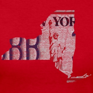 New York State License Plate Long Sleeve Shirts - Women's Long Sleeve Jersey T-Shirt