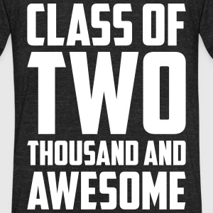 Class of Two Thousand and Awesome T-Shirts - Unisex Tri-Blend T-Shirt by American Apparel