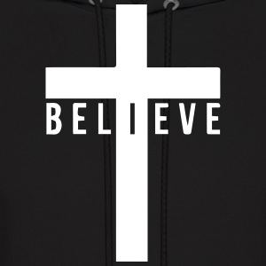 i believe cross Hoodies - Men's Hoodie