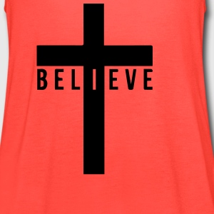 i believe cross Tanks - Women's Flowy Tank Top by Bella