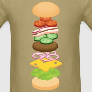 Deconstructed Burger T-Shirts - Men's T-Shirt