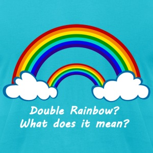 Double Rainbow - Men's T-Shirt by American Apparel