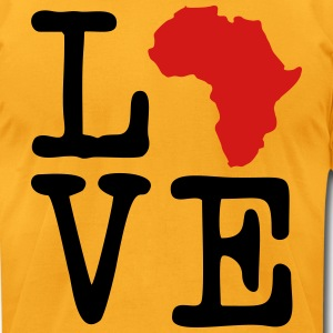I Love Africa, I Heart Africa T-Shirts - Men's T-Shirt by American Apparel