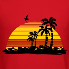 sunset island Long Sleeve Shirts