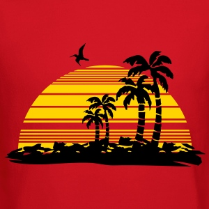 sunset island Long Sleeve Shirts - Crewneck Sweatshirt