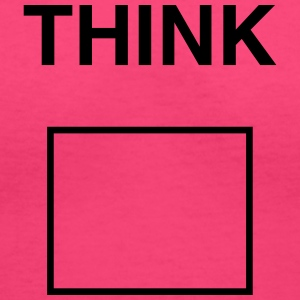 Think Outside the Box Women's T-Shirts - Women's V-Neck T-Shirt