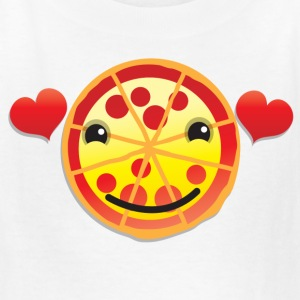cute love hearts pizza face Kids' Shirts - Kids' T-Shirt