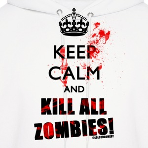 Keep Calm Zombies - Men's Hoodie