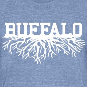 Buffalo Roots Buffalo New York T-Shirts - Unisex Tri-Blend T-Shirt by American Apparel