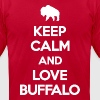 Keep Calm and Love Buffalo T-Shirts - Men's T-Shirt by American Apparel