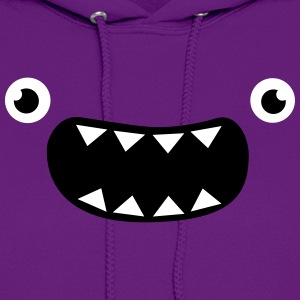 Funny Monster Face Hoodies - Women's Hoodie