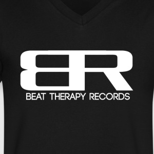 Beat Therapy T-Shirt - Men's V-Neck T-Shirt by Canvas