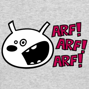 The dog barks: ARF, ARF, ARF! Long Sleeve Shirts - Men's Long Sleeve T-Shirt by Next Level