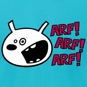 The dog barks: ARF, ARF, ARF! T-Shirts - Men's T-Shirt by American Apparel