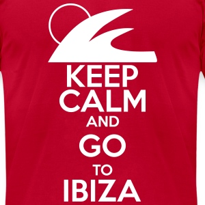 keep calm and go to ibiza T-Shirts - Men's T-Shirt by American Apparel