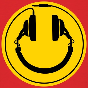 Headphones smiley wire plug T-Shirts - Men's T-Shirt