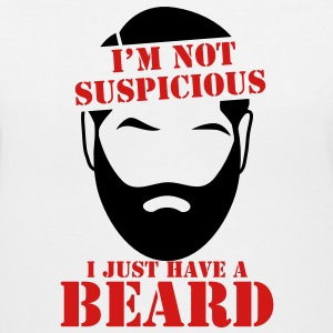 I'm not suspicious I just have a BEARD! funny joke Women's T-Shirts - Women's V-Neck T-Shirt