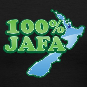 100% percent JAFA with New Zealand Map AUCKLAND Women's T-Shirts - Women's V-Neck T-Shirt