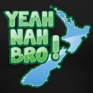 yeah nah bro NEW ZEALAND funny saying Women's T-Shirts - Women's V-Neck T-Shirt