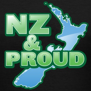 NZ New Zealand and proud with kiwi map Women's T-Shirts - Women's V-Neck T-Shirt