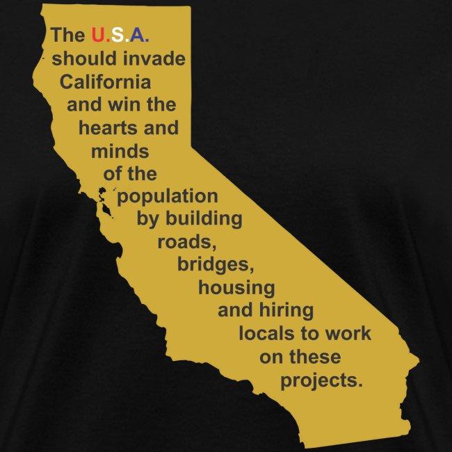 invade California f