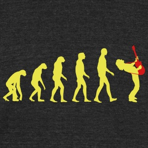 guitar player evolution T-Shirts - Unisex Tri-Blend T-Shirt by American Apparel