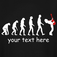 guitar player evolution T-Shirts