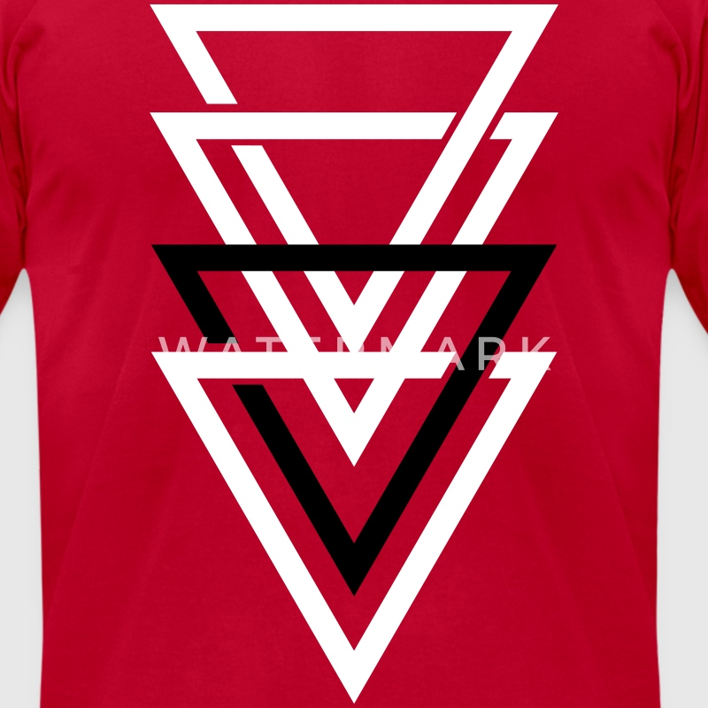 double triangle T-Shirts - Men's T-Shirt by American Apparel