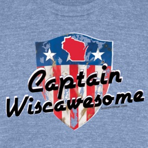Sconsinwear Captain Wiscawesome T-Shirts - Unisex Tri-Blend T-Shirt by American Apparel