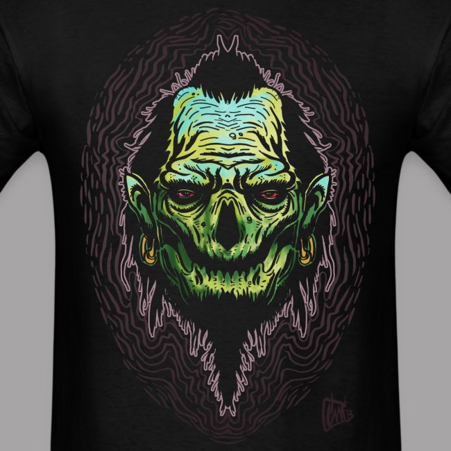 Big J Zombie Shrunken head tiki Men's T Shirt