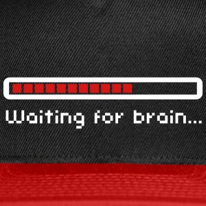 Waiting for brain (loading bar) / Funny humor Caps - Snap-back Baseball Cap